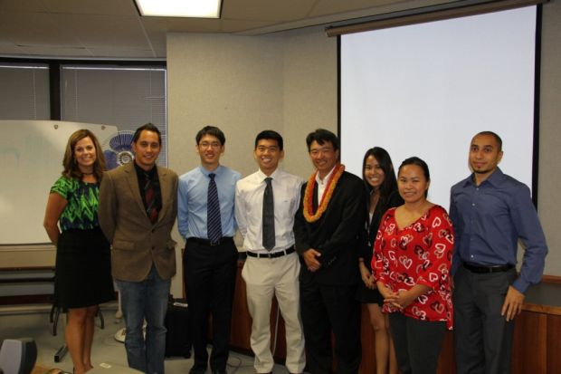 Lt. Governor Tsutsui with 2013 TIP Summer interns