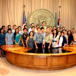 Summer 2015 TIP Interns with Governor Ige.